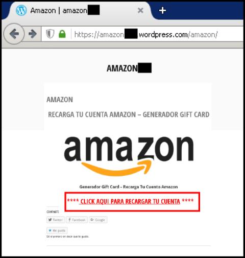 Campaña de phishing contra Amazon