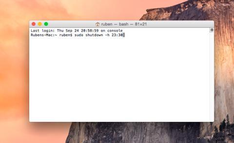 Apagado programado de tu Mac