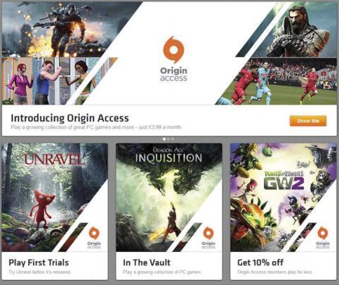 Servicio de videojuegos online de Origin, Origin Access