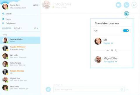 Traductor de idiomas de Skype para Windows