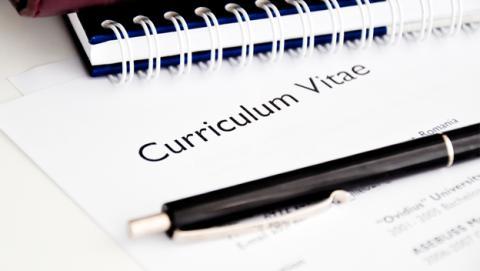 Currículum Vitae para una solicitud de trabajo