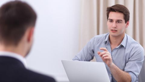 Entrevista de trabajo para compañía de Internet