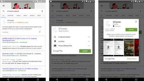 nueva función de Google para instalar aplicaciones