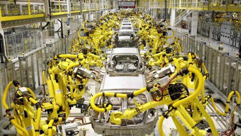 robots en fábricas