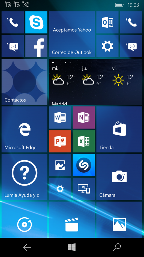 Windows 10 Mobile con Lumia 950
