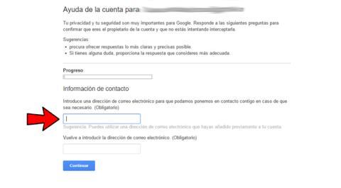 Recuperar la contraseña de Gmail