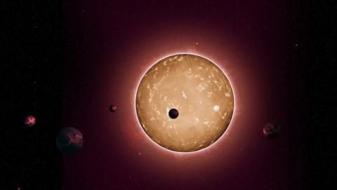 Ilustración de Kepler-444