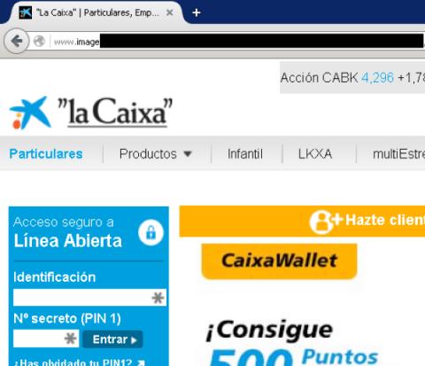 Phishing contra La Caixa