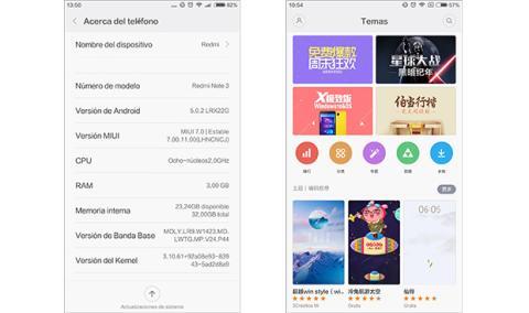 Xiaomi Redmi Note 3 traducción