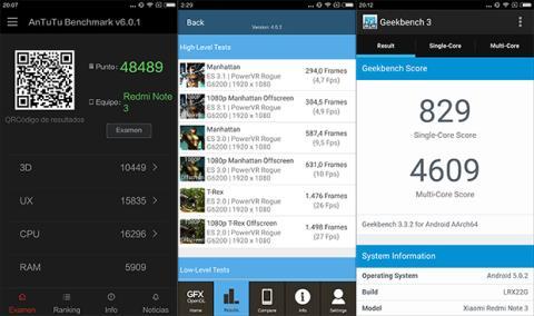 Xiaomi Redmi Note 3 benchmarks