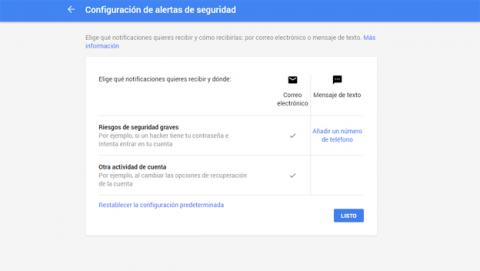 Aumentar la seguridad en Gmail