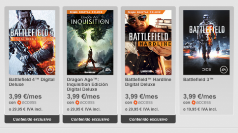 Origin Access, servicio de suscripción para juegos de PC