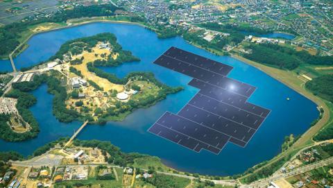 Granja solar flotante