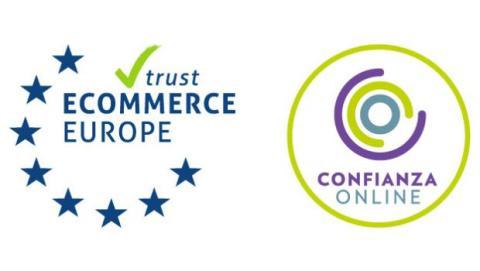 El logo de Confianza Online certifica la seguridad y fiabilidad de las páginas web.