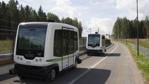 Autobús autónomo en Finlandia