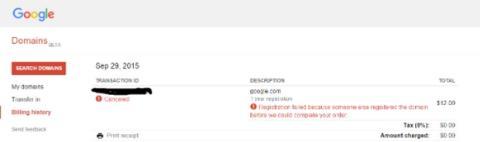 Compró Google.com durante un minuto, Google le paga 6006 dólares