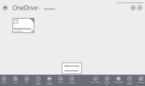 OneDrive permite enlazar archivos para su envío por correo electrónico y evitar de ese modo las restricciones de tamaño de los adjuntos de los servidores de correo.