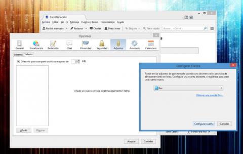 La función FileLink de Thunderbird viene desactivada por defecto ya que necesita una cierta configuración para funcionar, pero una vez realizada ese sencillo trámite, no querrás deshacerte de ella jamás