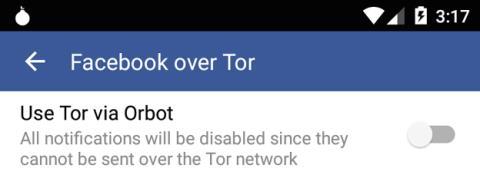 Navegación anónima en Facebook a través de Tor