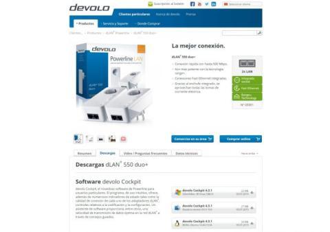 Descarga software Devolo dLAN 550 WiFi