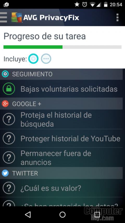 Con la app AVG PrivacyFix puedes controlar la privacidad de tus dispositivos.