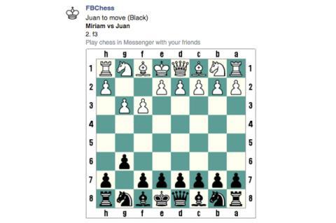 Juedo de ajedrez secreto de facebook