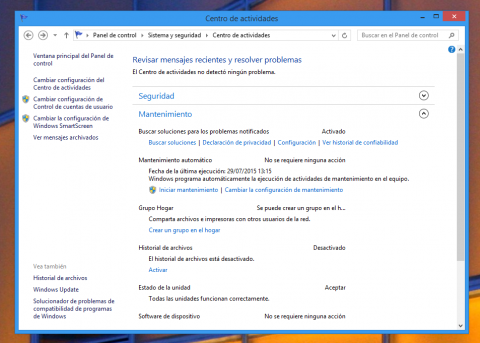 Configura el mantenimiento automático de Windows