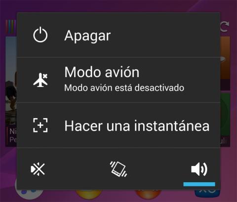 Hacer una captura de pantalla en un Sony Xperia