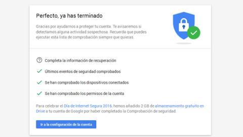 comprobación seguridad Google