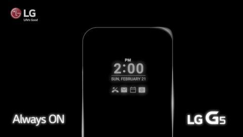 La pantalla del LG G5 estará siempre activa