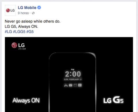 Pantalla siempre activa del LG G5