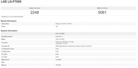 Benchmark Geekbench del LG G5
