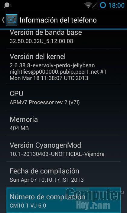Ttras 7 pulsaciones, tu terminal te indicará que las opciones de desarrollador se han desbloqueado.
