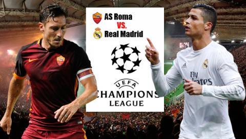 Cómo ver en directo online el AS Roma vs Real Madrid