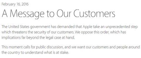 Nota de prensa de Tim Cook al respecto de la encriptación de los iPhone