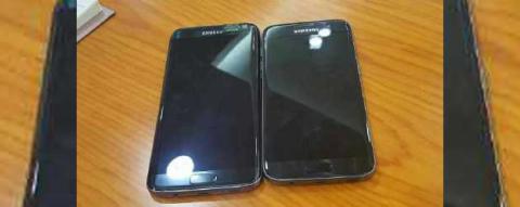 Imagen del Galaxy S7 Edge con la pantalla curva