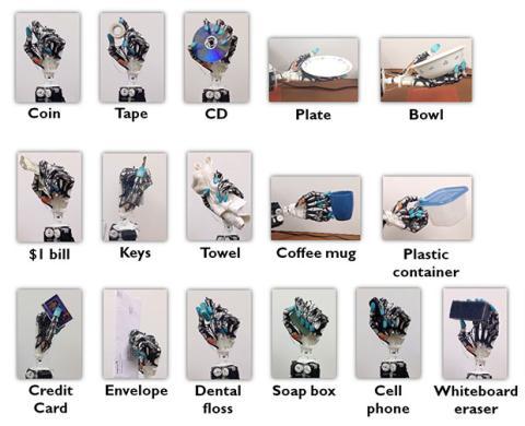 Movimientos de la mano robótica