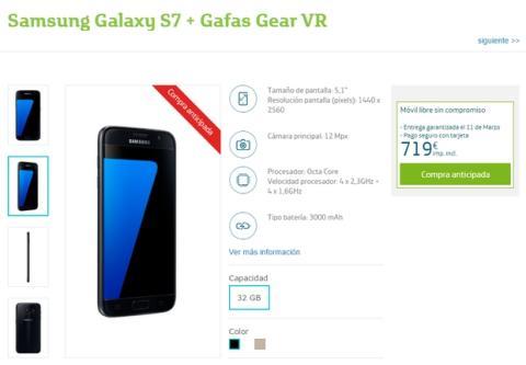 Precios del Samsung Galaxy S7 y S7 Edge en Movistar