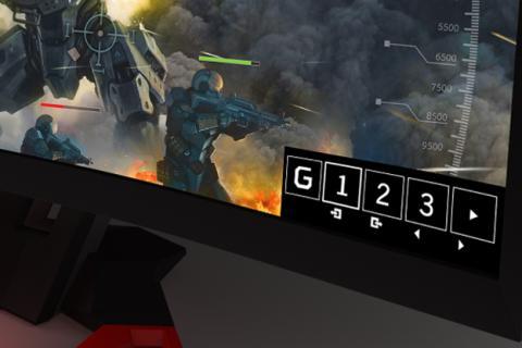 Opción GameView, para personalizar la imagen en los monitores Predator
