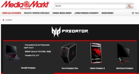 Comprar los Predator de Acer