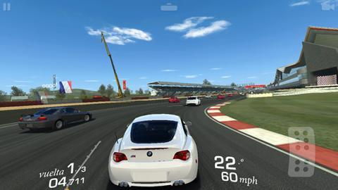 Jugando con el bq Aquaris X5 al real racing 3