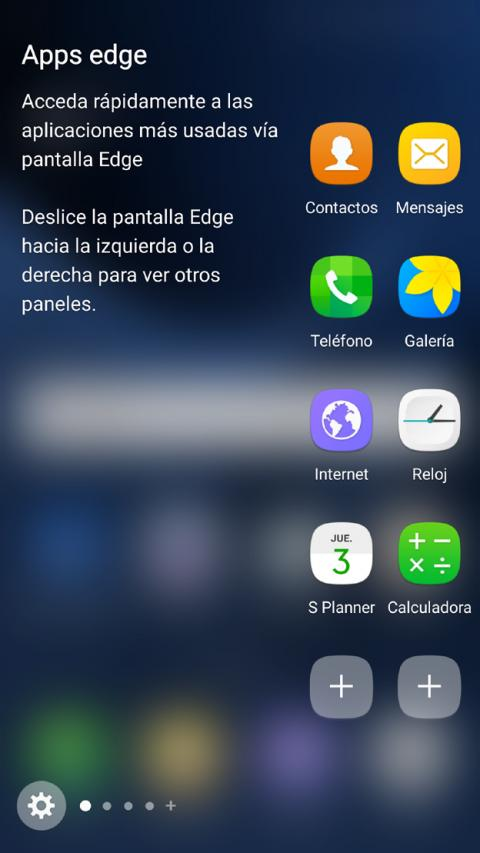 Pantalla Edge del Samsung Galaxy S7