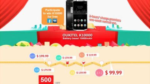 Oferta de venta flash del Oukitel K10000