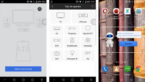 Smartphone con infrarrojos