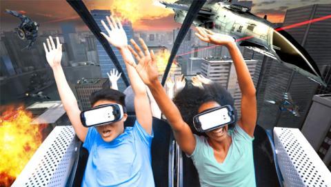 Samsung Gear VR en la montaña rusa
