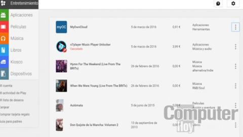 La devolución del contenido multimedia se tiene que realizar desde Google Play.