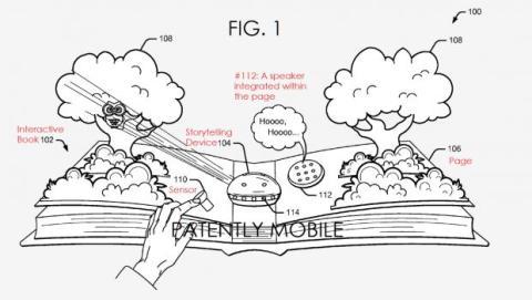 Imagen de la patente del libro interactivo presentada por Google