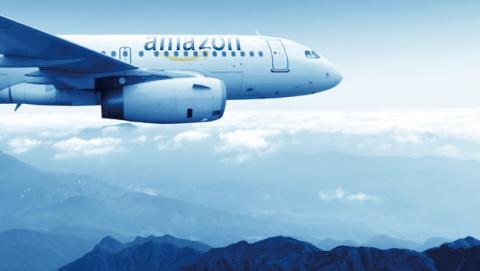 Flota de aviones para el transporte de productos de Amazon