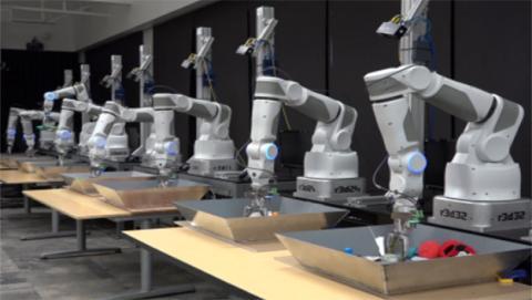 brazos roboticos de google conectados