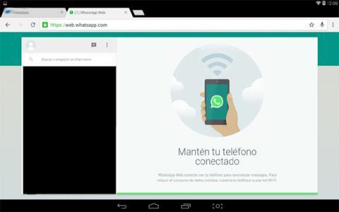 WhatsApp Web en una tablet Android